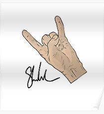 Signature hand Poster