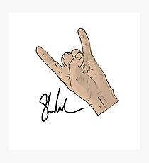 Signature hand Photographic Print