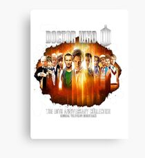 Dr Who 50th Anniversary Canvas Print