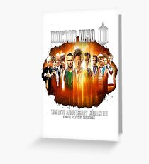 Dr Who 50th Anniversary Greeting Card