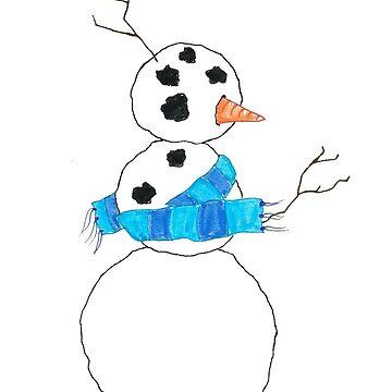 Drunk Snowman by Briaking