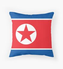 Flag of North Korea Throw Pillow