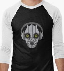 Gasmask Robot Head Men's Baseball ¾ T-Shirt