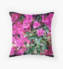 Fucsia Flowers Throw Pillow