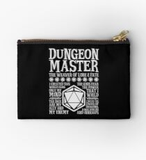 Dungeon Master, The Weaver of Lore & Fate - Dungeons & Dragons (White Text) Studio Pouch