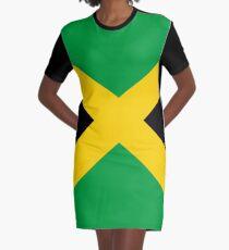 Flag of Jamaica Graphic T-Shirt Dress