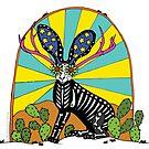 The Mythical Texas Jackalope by RobiniArt