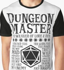 Dungeon Master, The Weaver of Lore & Fate - Dungeons & Dragons (Black Text) Graphic T-Shirt