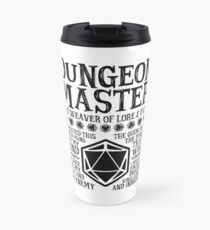 Dungeon Master, The Weaver of Lore & Fate - Dungeons & Dragons (Black Text) Travel Mug