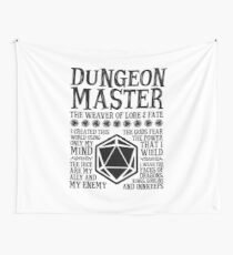 Dungeon Master, The Weaver of Lore & Fate - Dungeons & Dragons (Black Text) Wall Tapestry