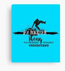 Parkour Thing Canvas Print