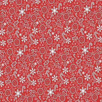 Red Christmas Pattern by JoeEgy