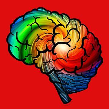 Neurodiversity Rainbow Brain by NeuroRebel