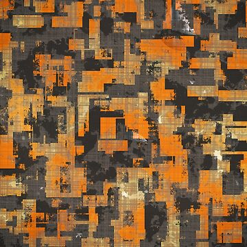 Abstract Urban Distorted Cubes Background Orange by A-DIMENSION