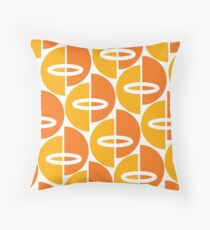 Orang Gold Mid-Century Modern Throw Pillow