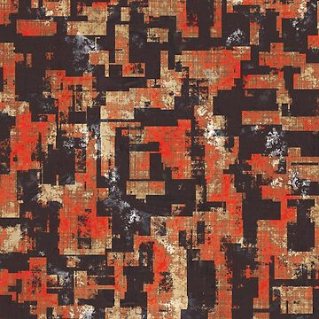 Abstract Urban Distorted Cubes Background Red by A-DIMENSION