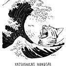 #meowdernart - Katsushicat Hokusai by mariapaizart