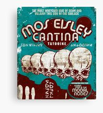 Cantina Sign Canvas Print