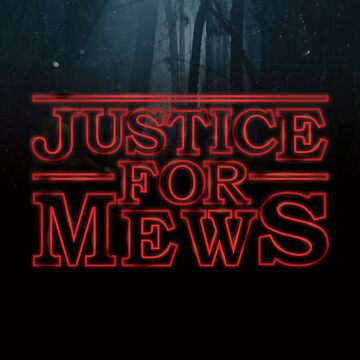 Justice For Mews Upside Down Glowing Graphic by TotalTeeGeek