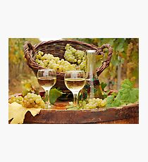 white wine  Photographic Print