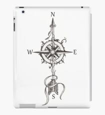 Compass with arrow iPad Case/Skin