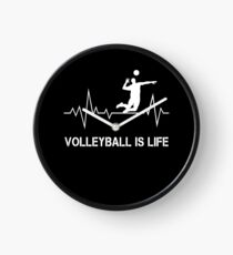 Volleyball Is Life Heartbeat Gifts Clock