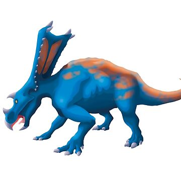 Blue Chasmosaurus by GoldenArchelon