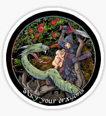 Slay Your Dragons. Gift for Jordan B. Peterson fans Sticker