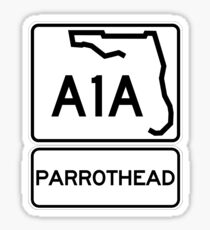 A1A - Parrothead - Florida Sticker