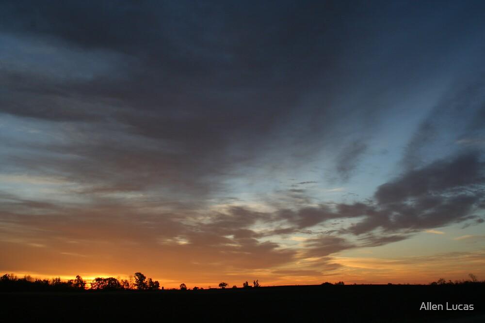 Autumn Sunrise On The Farm by Allen Lucas
