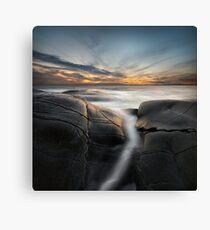 silver ocean stream Canvas Print