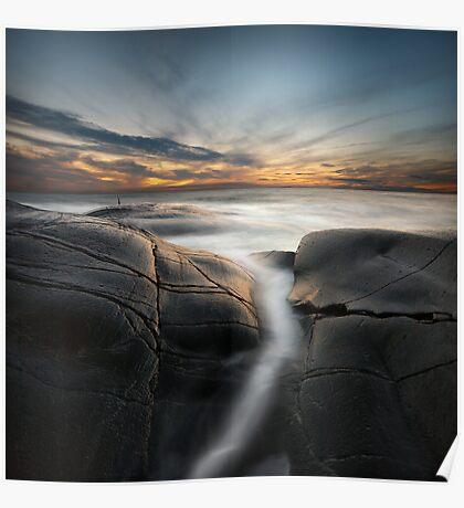 silver ocean stream Poster