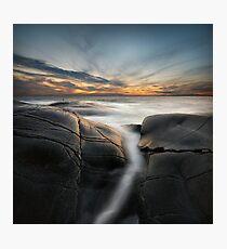 silver ocean stream Photographic Print