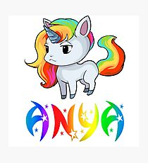 Anya Unicorn Photographic Print