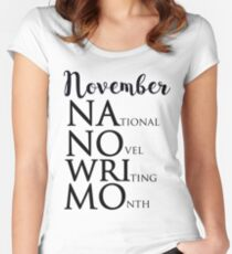NANOWRIMO Women's Fitted Scoop T-Shirt