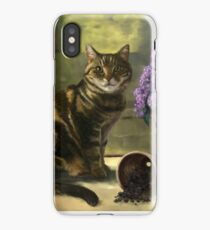 Cat and lilacs iPhone Case/Skin