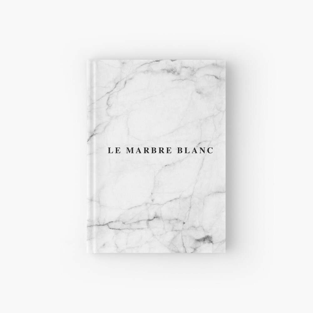 White marble french Hardcover Journal