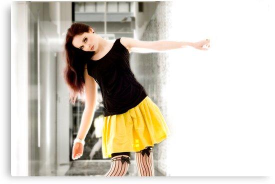 Anne Duffy Fashion Shoot Yellow Skirt by Tony Lin