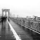 Brooklyn Bridge w/passersby by Sean Sweeney