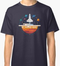 Space Shuttle and Planets Classic T-Shirt