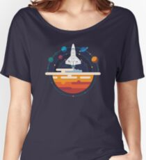Space Shuttle and Planets Women's Relaxed Fit T-Shirt