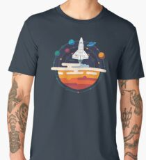 Space Shuttle and Planets Men's Premium T-Shirt