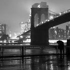 Brooklyn Bridge with Umbrella by Sean Sweeney
