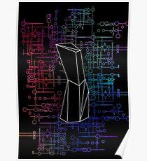 The Obelisk / The Diviner (Black and Multi-Coloured on Black) Poster