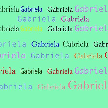 Gabriela in your face by MonicaArtist