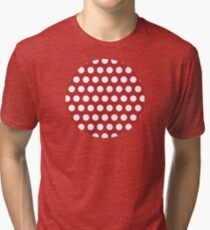 dots, brick red and white Tri-blend T-Shirt