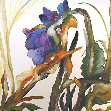 Bearded Iris, Big Sur Woods by Hawkski