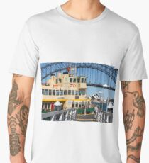Sydney ferry, harbour bridge and Opera House Men's Premium T-Shirt