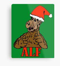 Christmas ALF Metal Print