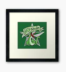 HERGWERTS Hiss Noodle Framed Print
